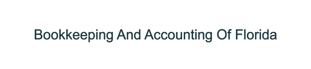 Bookkeeping And Accounting Of Florida