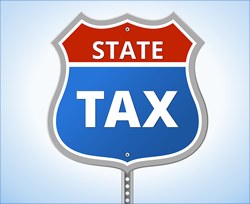 State Tax Road Sign