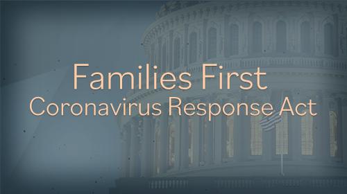 Coronavirus Families First Response Act