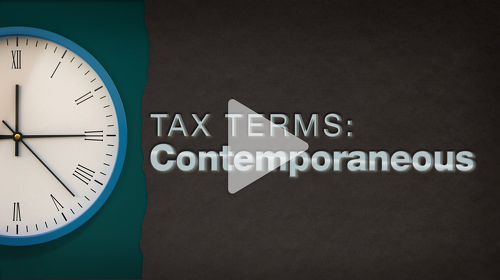 Thumbnail: Tax Terms: Contemporaneous